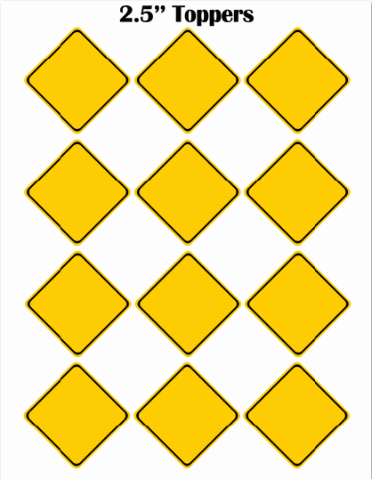 editable construction zone yellow signs