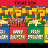 lego birthday party favors popcorn box