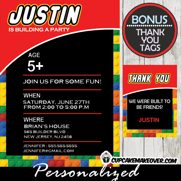 printable lego party invitations boys