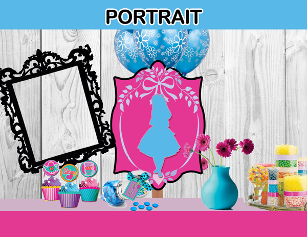 alice in wonderland portrait decor