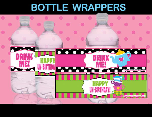 alice in wonderland bottle labels