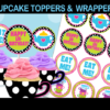 cute alice cupcake toppers