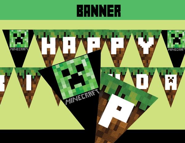 Minecraft Invitations Walmart - Minecraft birthday invitation maker