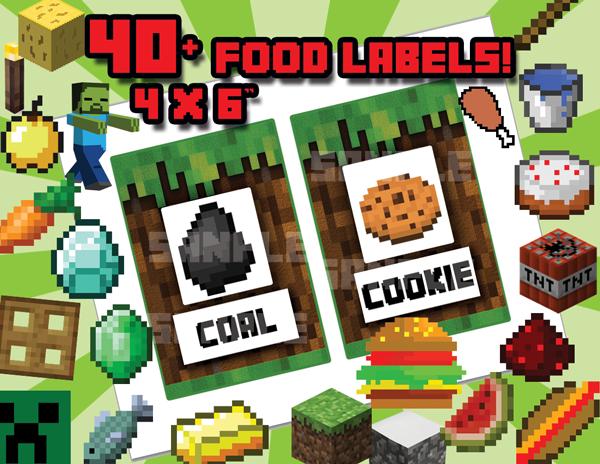 Minecraft Food Labels