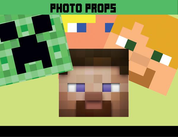 Bit Photo Props, Minecraft Decoration Ideas – INSTANT DOWNLOAD