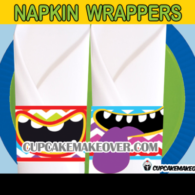 cute little monster napkin rings