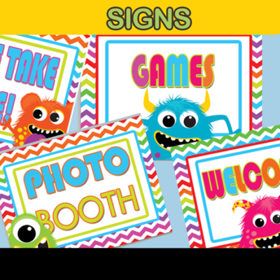 monster welcome sign