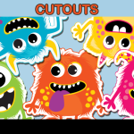 printable cute monster party decor