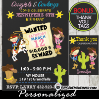 western birthday invitations cowboy cowgirl