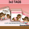 Western cowgirl editable tags