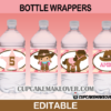 editable western girl bottle labels