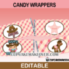 editable Cowgirl candy labels western wrappers