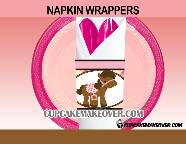cowgirl western napkin rings