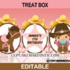 editable cute cowgirl treatbox western popcorn box