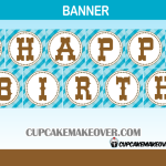 cute printable cowboy western birthday banner