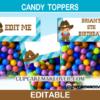 cowboy editable favor bag toppers