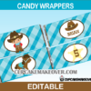 editable cowboy western wrappers