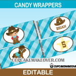 editable cowboy western wrappers