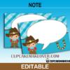 editable western thank you cards