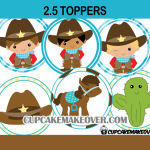 cute cowboy western toppers