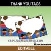 wild west editable thank you cards cowgirl cowboy