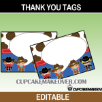 wild west editable thank you cards cowgirl cowboy