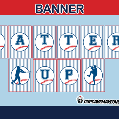 sports editable baseball birthday banner home run