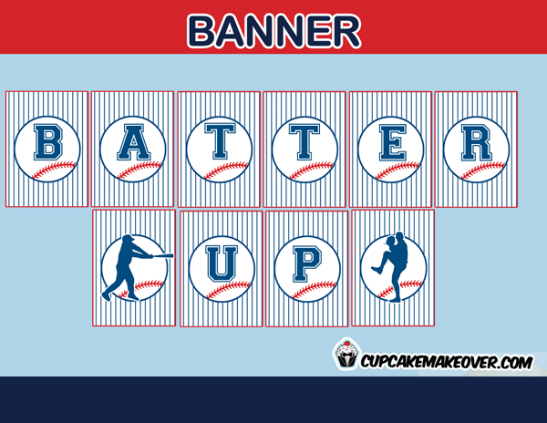 sports editable baseball birthday banner home run