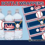 sports baseball bottle labels