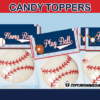 sports baseball treat bag toppers