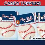 sports baseball treat bag toppers