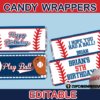printable baseball candy wrappers