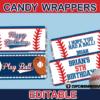printable baseball candy wrappers