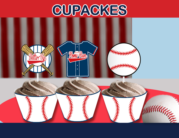 Baseball Party Package Instant Download Cupcakemakeover