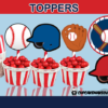 sports baseball game cake toppers party decor