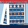 sports baseball game mini candy labels