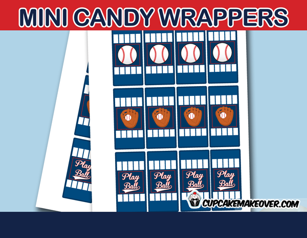 sports baseball game mini candy labels