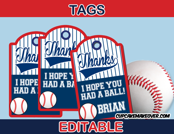 baseball party package - instant download