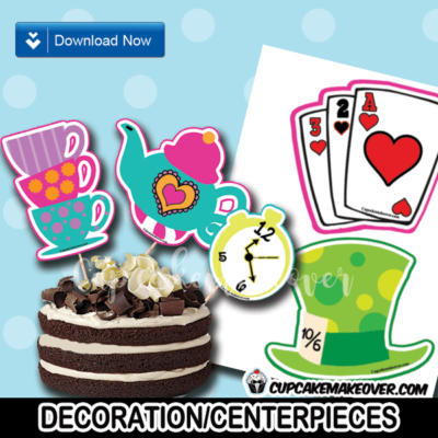Alice in wonderland decorations party decor centerpieces