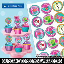 alice in wonderland cupcakes decoration ideas mad hatter toppers wrappers