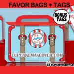 airplane baby shower favor box printable tags