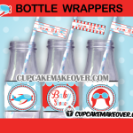plane baby shower bottle wrappers