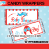 printable plane candy wrappers baby shower boy