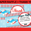 Airplane games and thank you diaper raffle