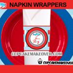 plane baby shower napkin rings