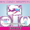 cute pilot girl mini candy labels