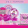 cute editable girl pink airplane toppers wings cupcake