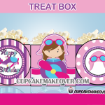 girl pilot airplane treat boxes