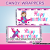 cute pink airplane girl candy labels