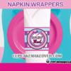 cute pink airplane birthday napkin rings in-flight meal
